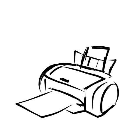 multifunction printer: Printer sketch for your design