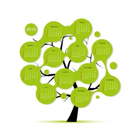 Calendar tree 2015 for your design Illustration