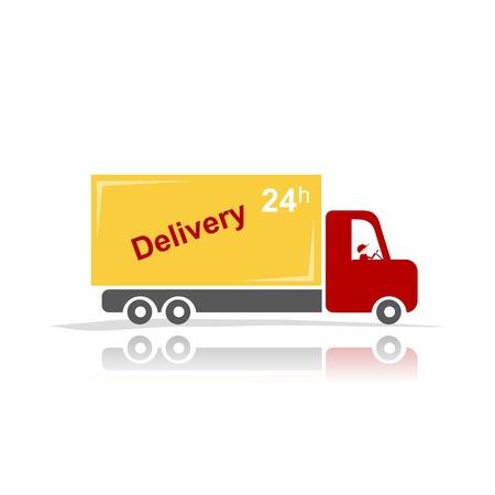 trucking: Delivery car for your design Illustration