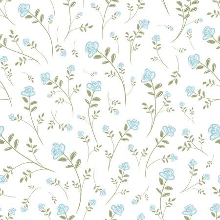Bloemen naadloos patroon voor uw ontwerp Stock Illustratie