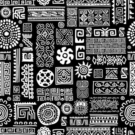 Etnische handgemaakte ornament, naadloos patroon voor uw ontwerp Stockfoto - 36996892