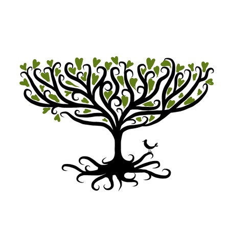 tree root: Art tree for your design