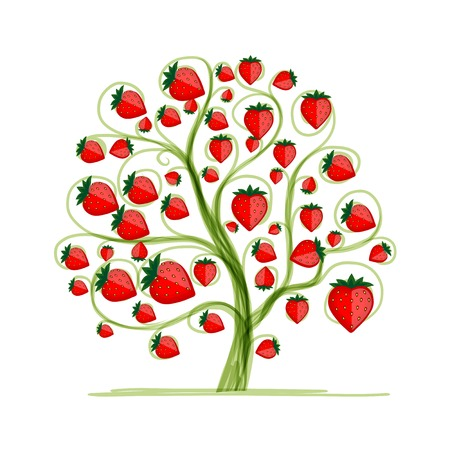 strawberry tree: Strawberry tree for your design