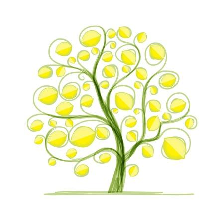 Lemon tree for your design