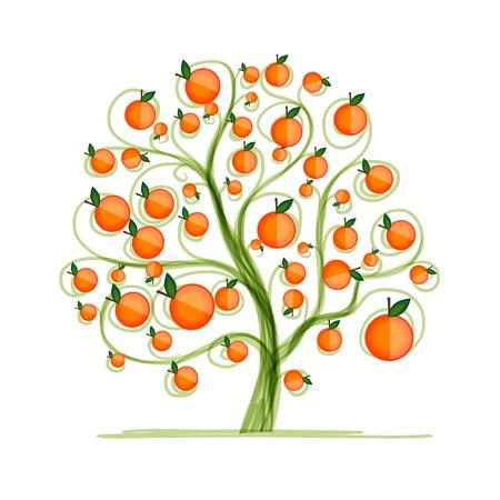 orange tree: Orange tree for your design