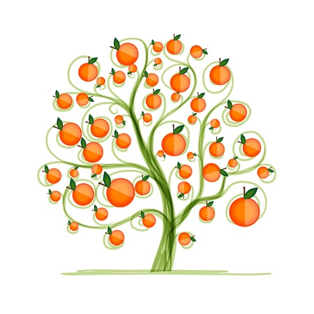 Orange tree for your design