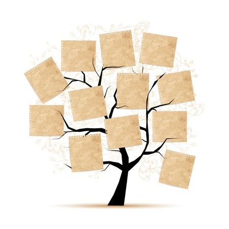 Art tree with papers for your text Illustration