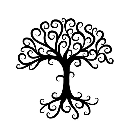 Art tree beautiful for your design Ilustracja