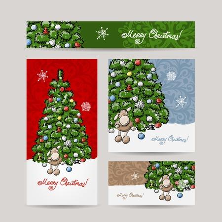 for print: Christmas set for print cards