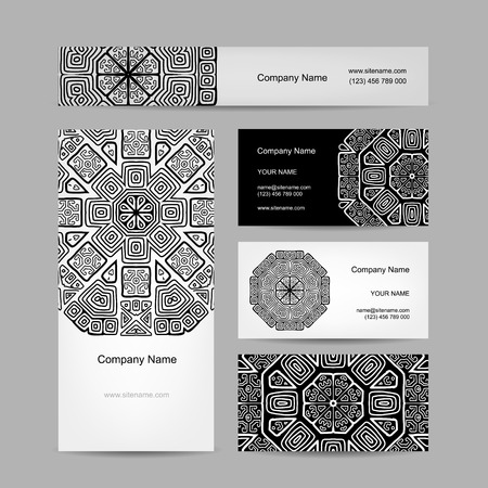 arabic frame: Set of abstract creative business cards design