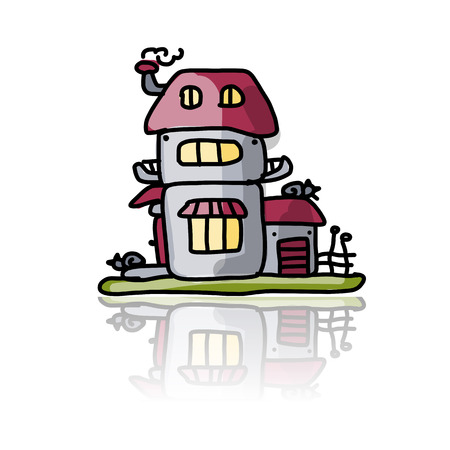 reflection of life: House icon, sketch for your design