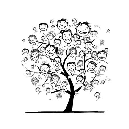 apoyo familiar: Árbol para su diseño Vectores
