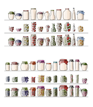 pickle: Set of pickle jars with fruits and vegetables