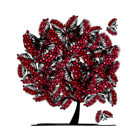 rowan tree: Rowan tree, sketch for your design