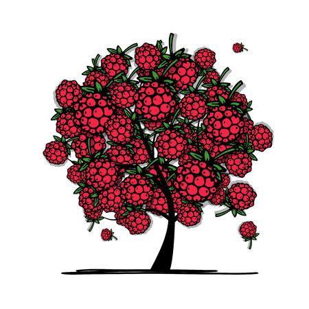 feuille arbre: arbre de framboise, croquis pour votre conception