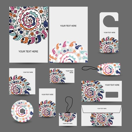 season greetings: Corporate business style design: folder, labels, cards, envelope, cd cover
