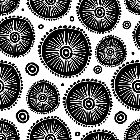 circle abstract: Abstract circle seamless pattern for your design, vector illustration
