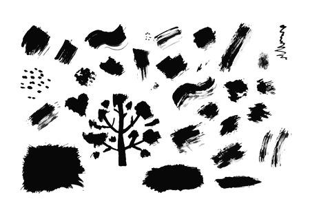 ink drops: Set of ink drops, grunge for your design. Vector illustration Illustration