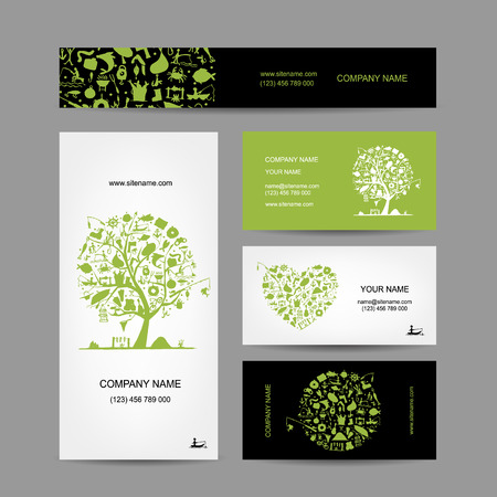 brand activity: Fishing, business cards set for your design. Vector illustration