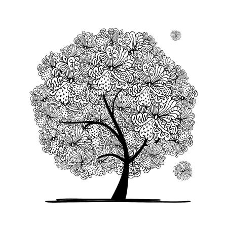 abstract tree: Abstract floral tree for your design. Vector illustration