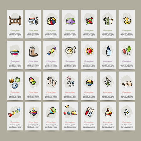 nappies: Set of baby icons for your design. Vector illustration Illustration