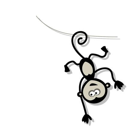 monkeys: Funny monkey for your design. Vector illustration Illustration