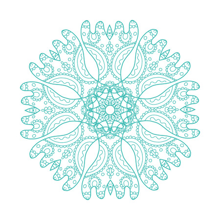circle flower: Arabesque ornament for your design, vector illustration
