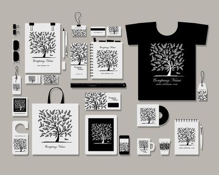 Corporate Identity plat modèle mock-up pour votre conception. Vector illustration Banque d'images - 47786211