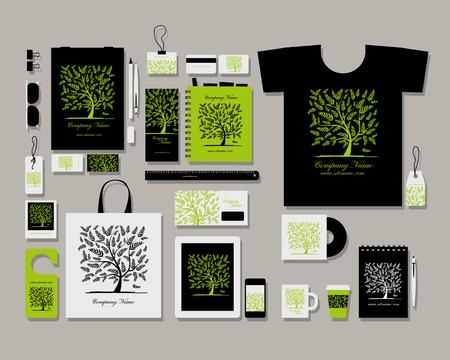 Corporate Flach Identität Mock-up-Vorlage für Ihre Konstruktion. Vektor-Illustration Standard-Bild - 47786212