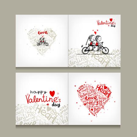 marriage invitation: Greeting card design, valentine day. Vector illustration
