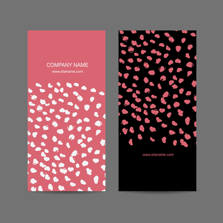 pink background: Abstract business card design. Vector illustration