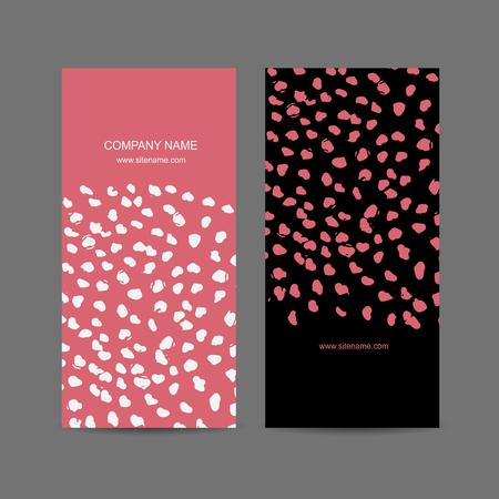 rosa negra: Resumen de diseño tarjeta de visita. ilustración vectorial