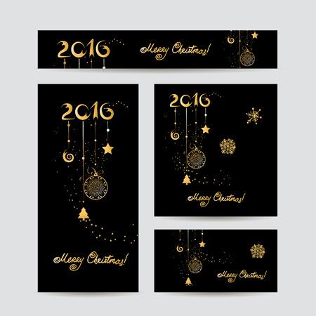 design frame: Christmas cards design. Vector illustration