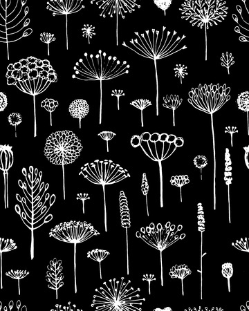to and fro: Floral seamless pattern, sketch fro your design. Vector illustration