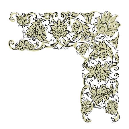 ornaments floral: Floral vignette for your design, vector illustration