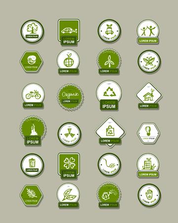 house energy: Ecology labels, set for your design. Vector illustration