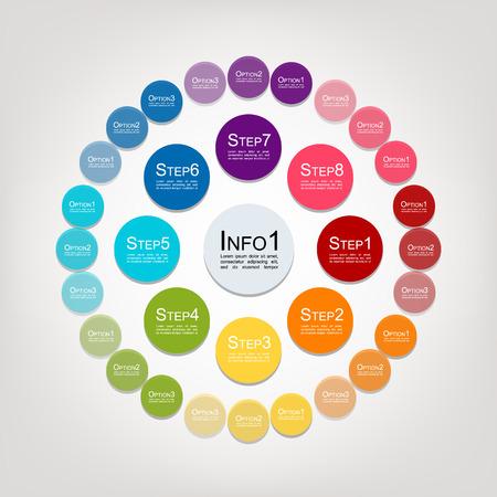 あなたの設計のためのインフォ グラフィック円。ベクトル図  イラスト・ベクター素材