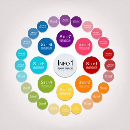 Circle infographic for your design. Vector illustration