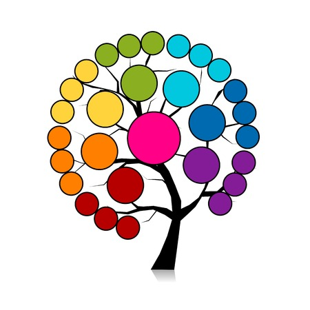 chakras: Infographic tree for your design. Vector illustration