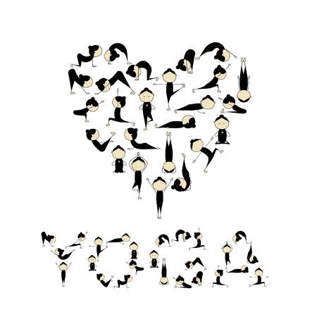 pose: I love yoga! Heart shape for your design
