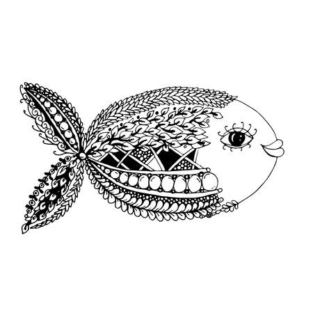 style de poissons Ornement pour votre conception. Vector illustration