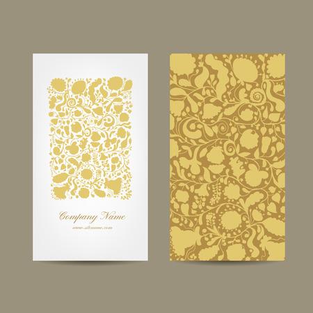 Tarjeta de visita, diseño floral. Ilustración vectorial Ilustración de vector