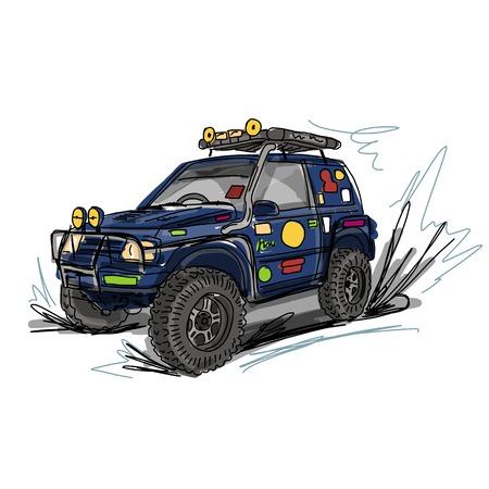 automotive, sketch for your design. Vector illustration Illustration