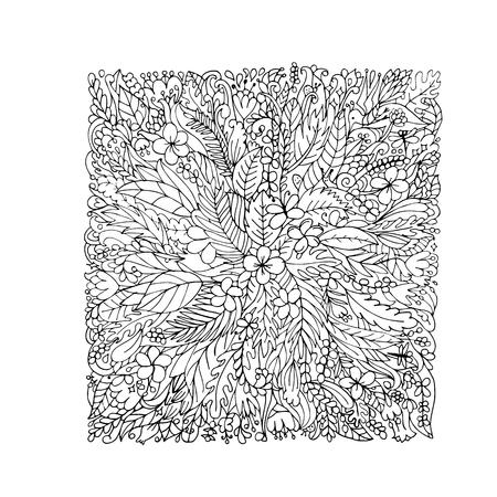 plumeria flower: Tropical floral frame for your design. Vector illustration Illustration