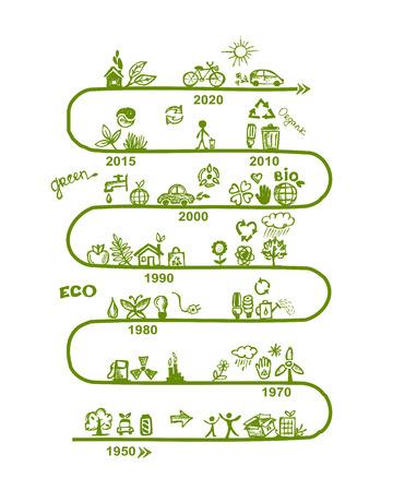 flower power: Ecology infographics, sketch for yuor design. Vector illustration