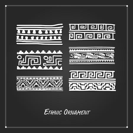 tibet: Ethnic handmade ornament for your design. Vector illustration Illustration