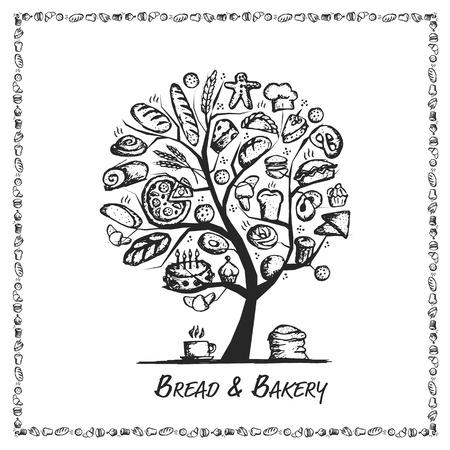 baking: Bakery tree concept for your design. Vector illustration Illustration