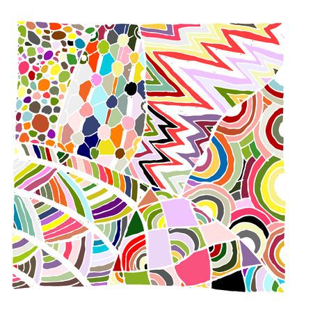 etnic: Zentangle ornament, sketch for your design. Vector illustration Illustration