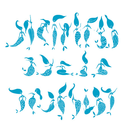 tail: Mermaid collection, sketch for your design