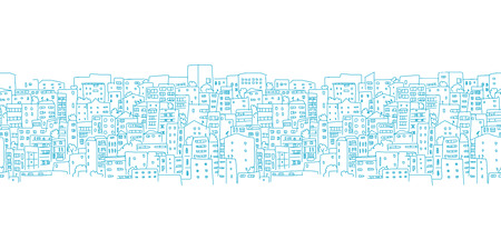 cityscapes: Abstract cityscape background, seamless pattern for your design. Vector illustration
